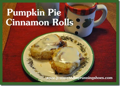 Pumpkin Pie Cinnamon Rolls Title