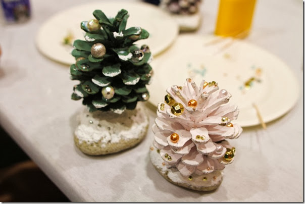 case e interni - decorazioni natalizie fai da te - diy - pigne