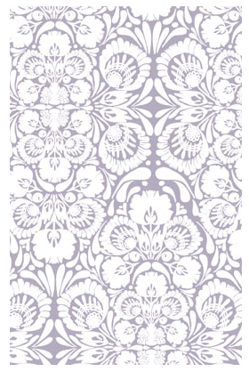 If an ornate pattern is too much for your entire room, consider using it on an accent piece. You can line a bookshelf or drawer for a surprise kick of pattern. (kremelife.com)