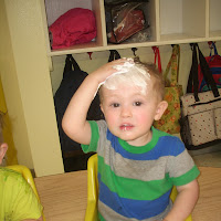 Toddlers Shaving Cream Fun!!