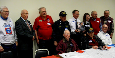 Some of the featured veterans along with authors Larry Cuddeback and Cheyenne Miller