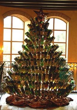 albero di bottiglie
