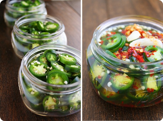 Easy Pickled Jalapeños – Try these quick & easy pickled jalapeños and use year-round on sandwiches, dips, salads and more! | thecomfortofcooking.com