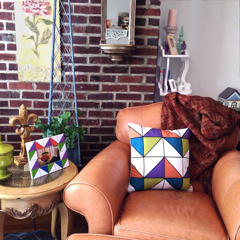 color block geometric faceted triangle chevron martha stewart
