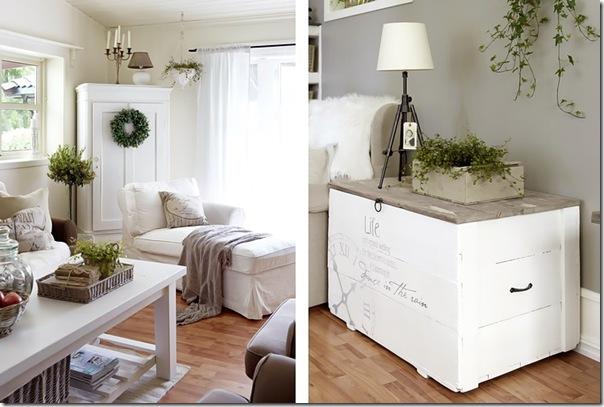 case e interni - casa Norvegia - Scandinavia -  shabby chic - bianco (6)