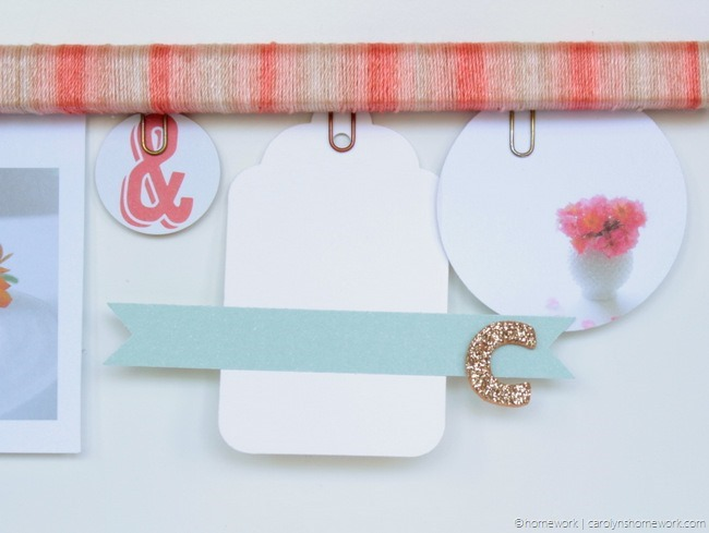 Twine Wrapped Inspiration Clipboard via homework (10)