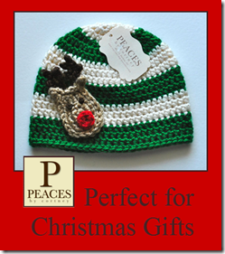 Peaces By Cortney: Handmade Crochet Hats & Beanies {Perfect for Christmas Gifts}