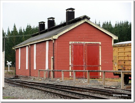 Reefton engine shed. The only single track, double loco shed in existence.