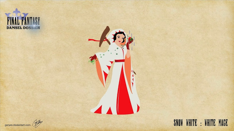 Final Fantasy Damsel Dossier - Snow White White Mage - by Geryes on deviantArt