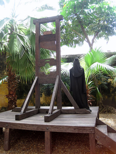 Guillotine at the Museo de la Inquisición, Cartagena, Colombia