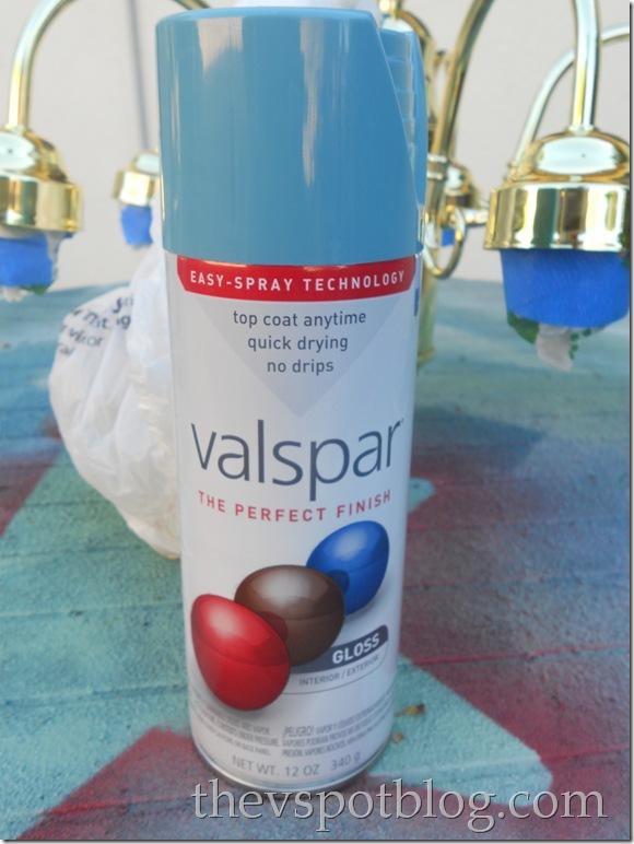 valspar, spray paint, mediterranean, blue