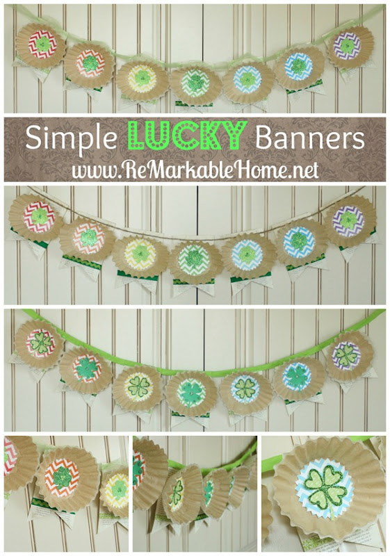 Simple Lucky Banners {ReMarkableHome.net}