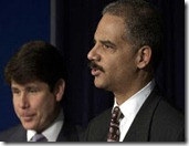 Eric Holder (right) appears at a March 24, 2004, news conference with Gov_ Blagojevich_  (AP file)
