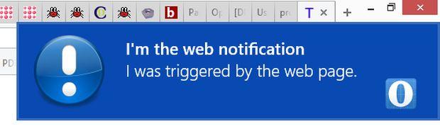 Opera Developer 25 - Web notifications