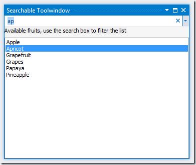 SearchControlNativeToolwindow