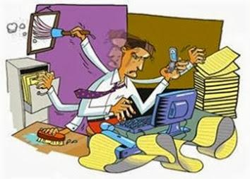 Caricatura para anuncio contabilidad
