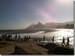 Rio beach from Copa