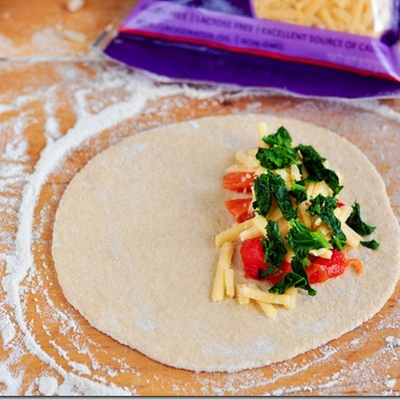 Vegan Calzones with beans and Hominy