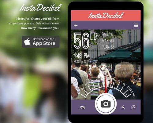 Instagramで騒音レベルをシェアできるアプリ