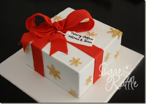 Sugar rattles journey simple christmas gift box cake img4555 negle Image collections