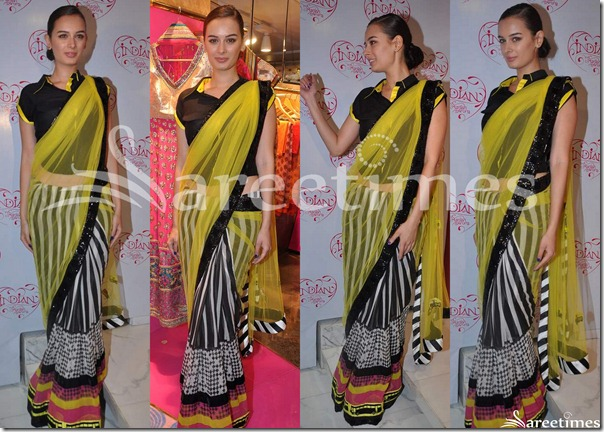 Evelyn_Sharma_Archana_Kochhar_Saree