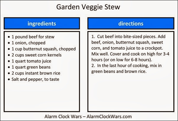 garden veggie stew recipe card