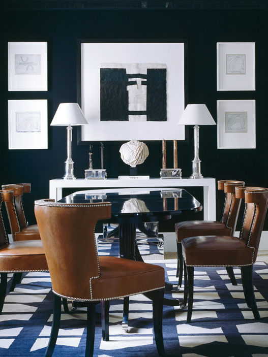 Style profile luis bustamante la dolce vita for Navy dining room ideas