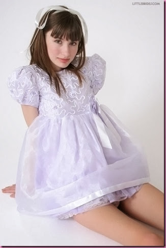 purple sissy dress