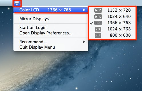 13mac app utilities displaymenu