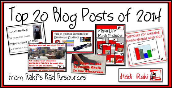 Top 20 Blog Posts from Raki's Rad Resources of 2014