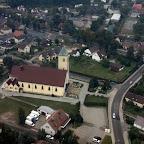 Widok Kościoła z lotu ptaka
