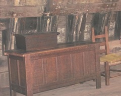 Plymouth Mayflower 8.13 storage chests and chair