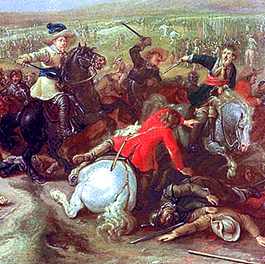 Gustav Adolph in battle of Dirschau, 1629