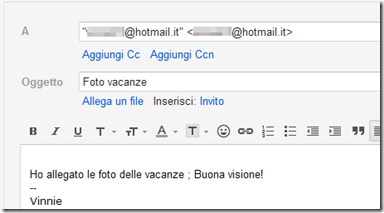 OmniMail for GMail destinatario già compilato
