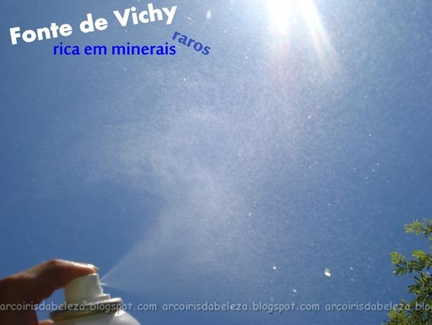 pulverizando água termal da vichy