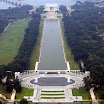 View of Lincoln Memorial and WWII Memorial