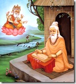 Valmiki visited by Lord Brahma