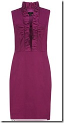 Ted Baker ruffle neckline dress