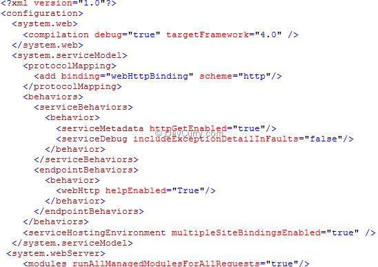 Web http Binding