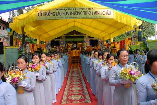 Tang lễ Cố Hòa Thượng Thích Minh Châu: Lễ Tham Yết Phật, Tổ – Lễ Sái Tịnh Bảo Tháp – Lễ Tưởng Niệm của Môn Đồ Pháp Quyến