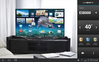 Screenshot of Samsung Smart TV AR Simulator
