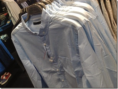 bershka baby blue long sleeve shirt