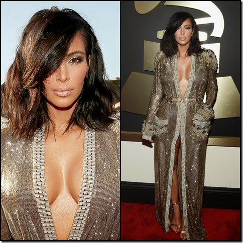 Kim Kardashian 57th Grammy