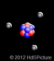gambar ilustrasi model atom Rutherford