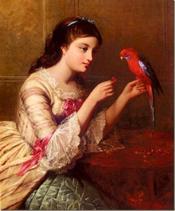 Edward John Cobbett, Femme au perroquet