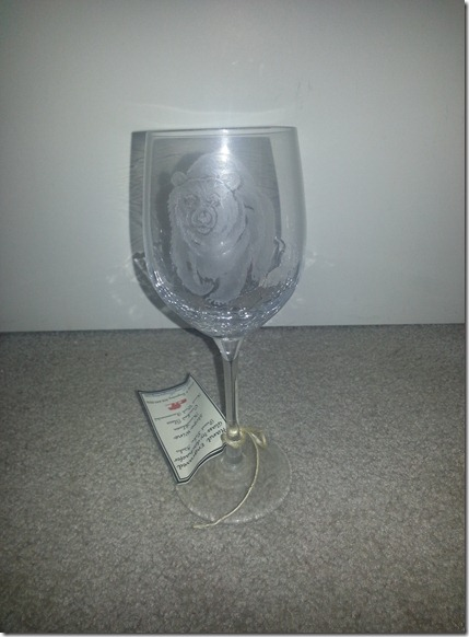Bear Wine Glass