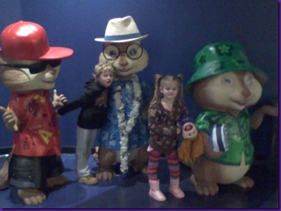 at movies to see chipmunks