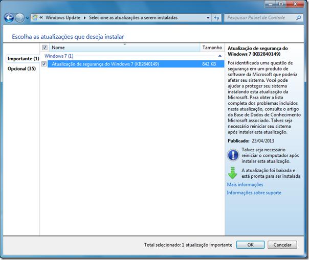 Atualização do Windows 7 KB2840149