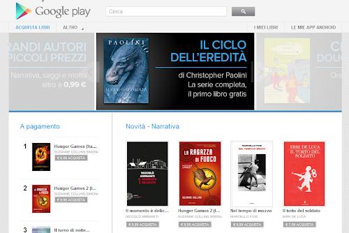 Google Play rilascia ora anche i Libri in italiano