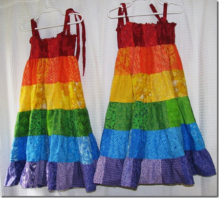 rainbow sundresses